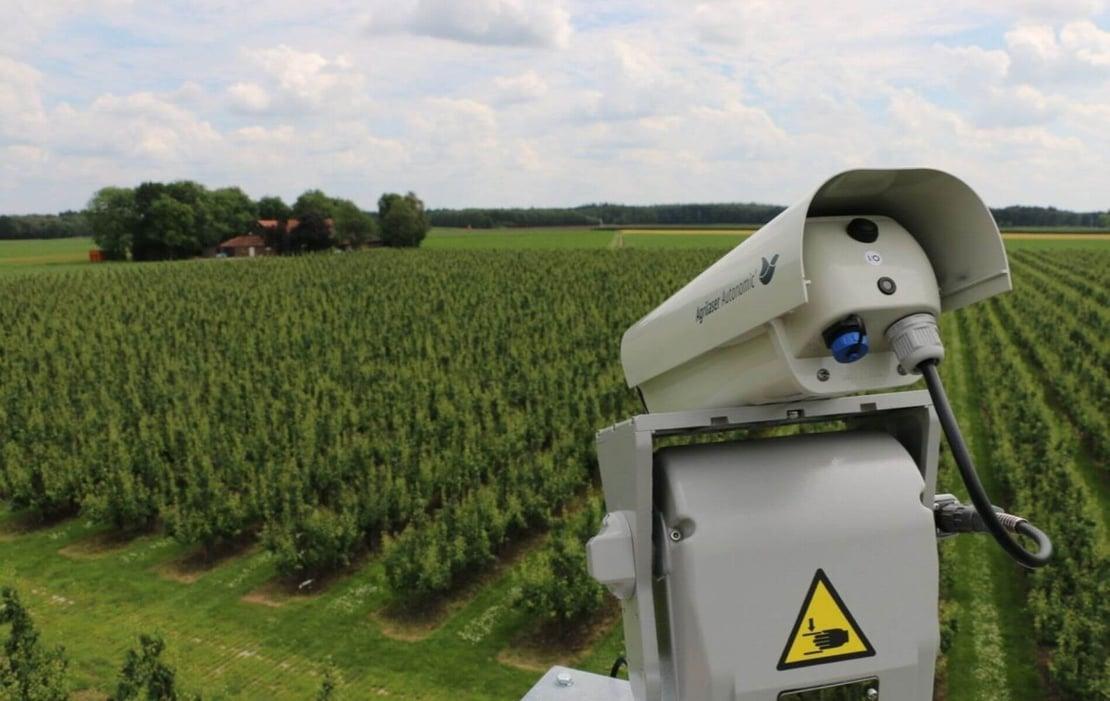 Sistema láser para control de aves en agricultura